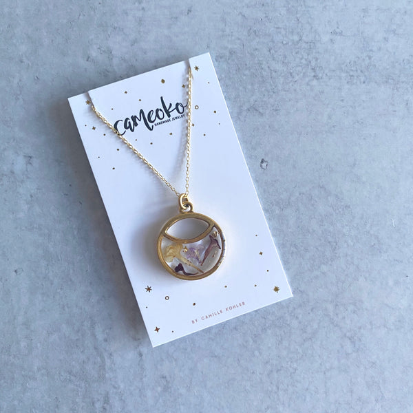 Garden Party Moon Necklace
