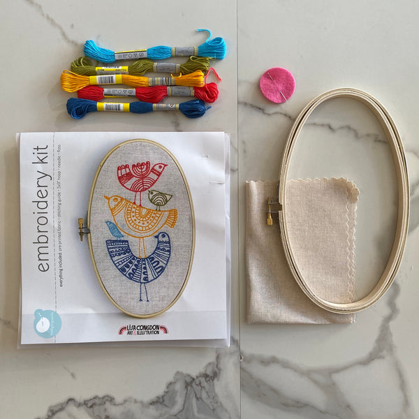 Embroidery Kit: Birds (more on the way)