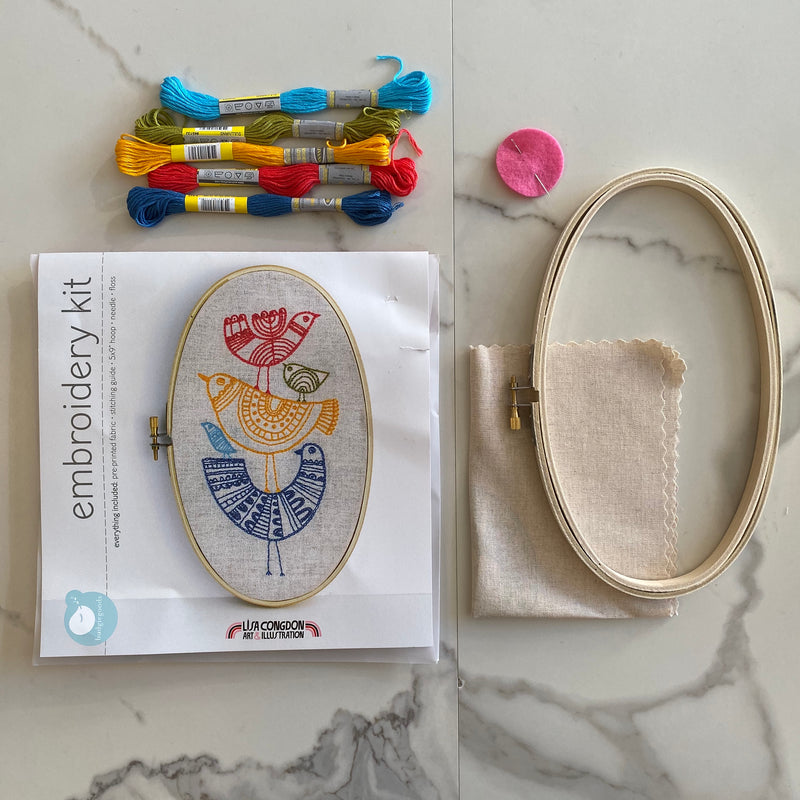 Embroidery Kit: Birds