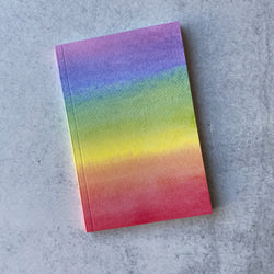 Watercolor Rainbow Journal