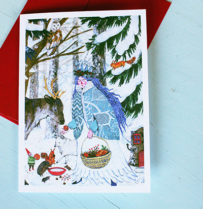 Lady Winter Notecards