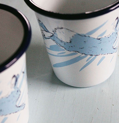 Rabbit Enamel Cup ~ Set of 2