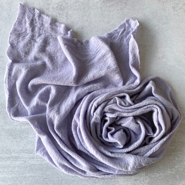 Baby Wool Cloud Scarf ~ Lilac