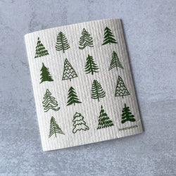 Swedish Dishcloth - Woodland Trees