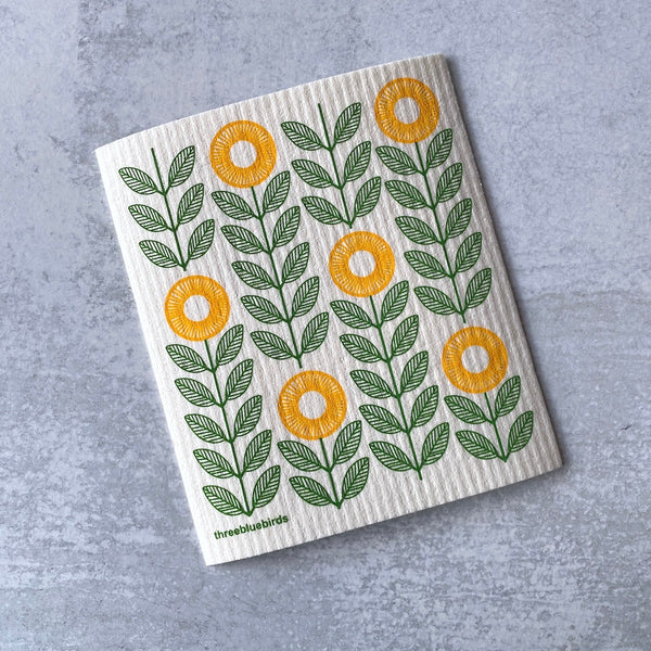 Swedish Dishcloth - Sunflowers