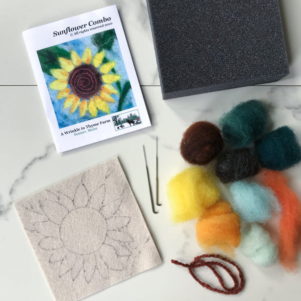 Needle Felting Kit: Sunflower