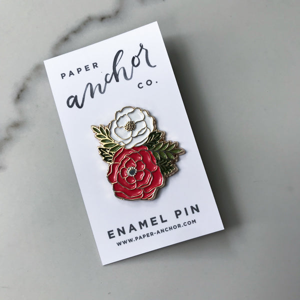 Floral Cluster Lapel pin