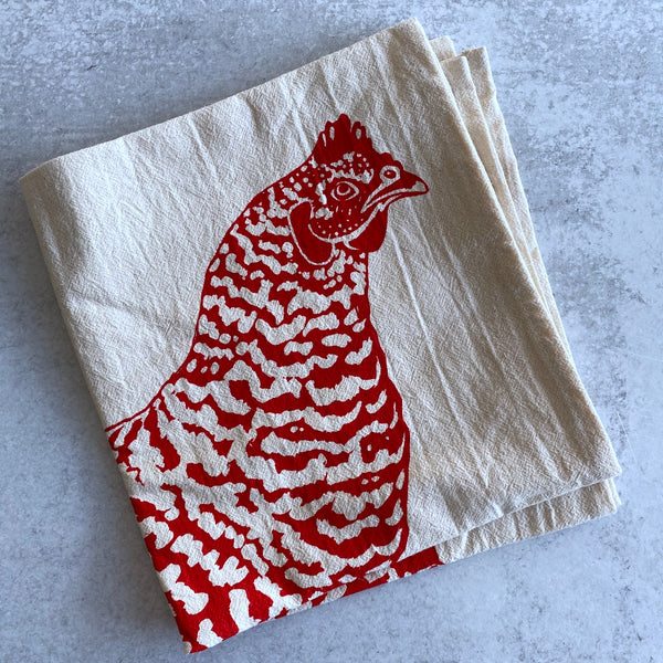 Tea Towel - Big Red Chicken