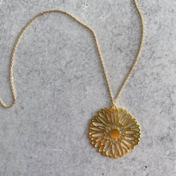Gerber Daisy Flower Necklace