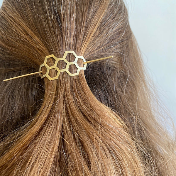 Honeycomb Hair Pin