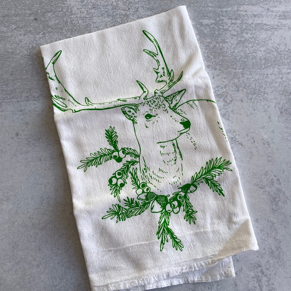 Tea Towel - Reindeer Tea Towel
