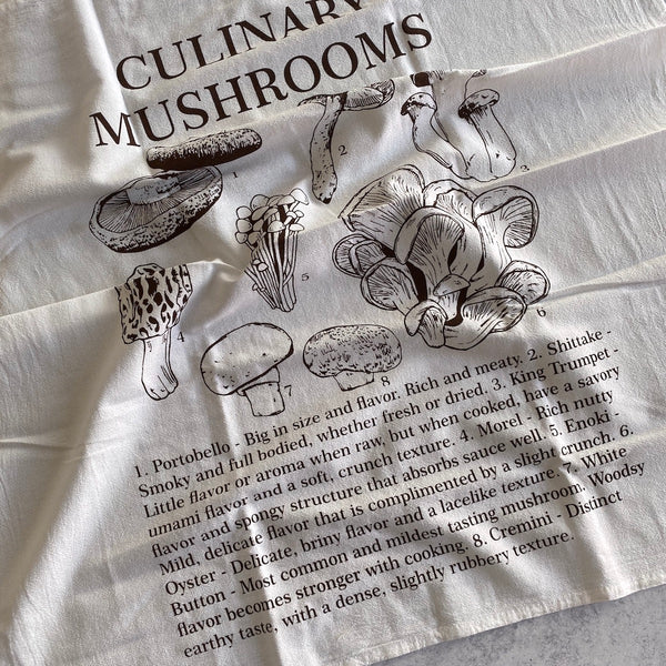 Tea Towel - Culinary Mushrooms