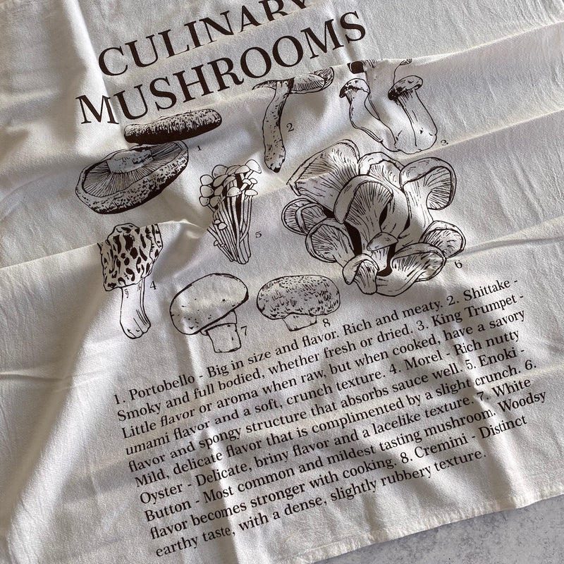 Tea Towel - Culinary Mushrooms (more on the way)