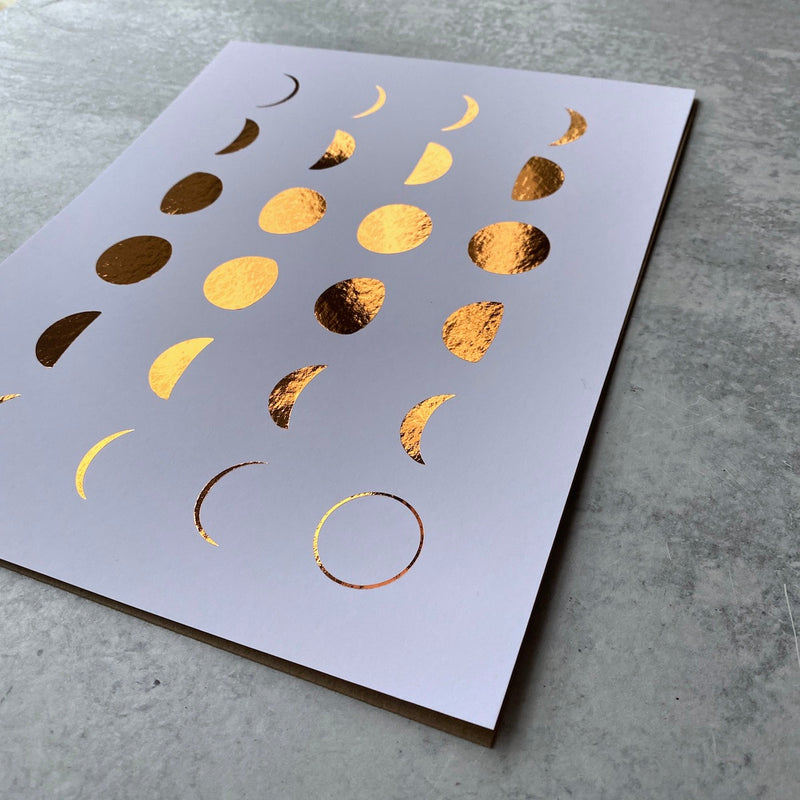 Moon Phase Gold Foil - Print