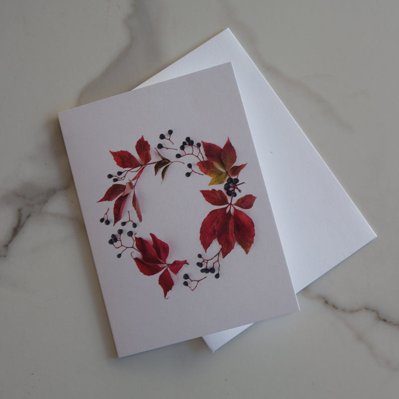 Botanical Wreath Card