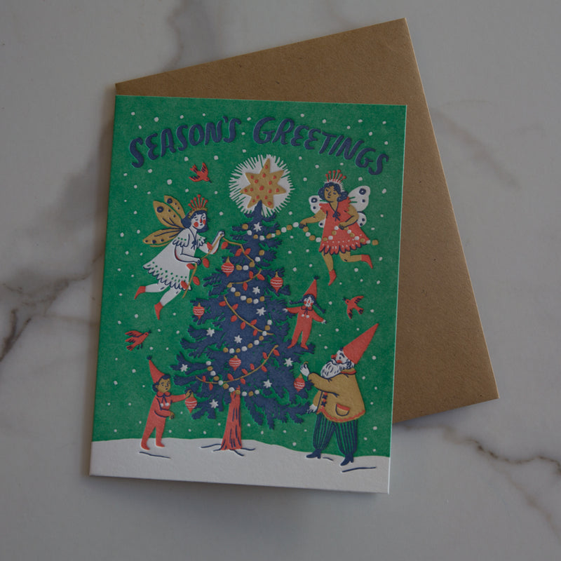 Season's Greeting Fairies Card
