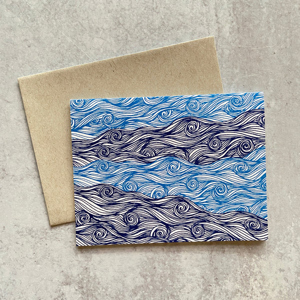 Blue Waves Card