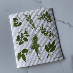 Swedish Dishcloth - Herbs