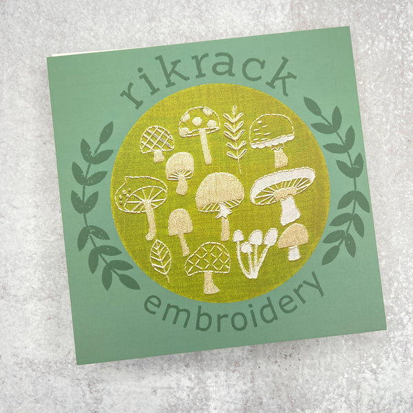 Embroidery Kit: Mushrooms