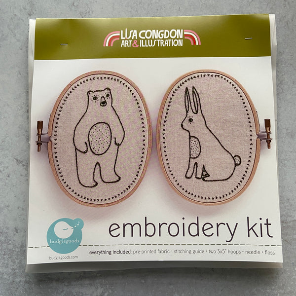 Embroidery Kit: Critters