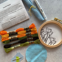 Embroidery Kit: California Poppies