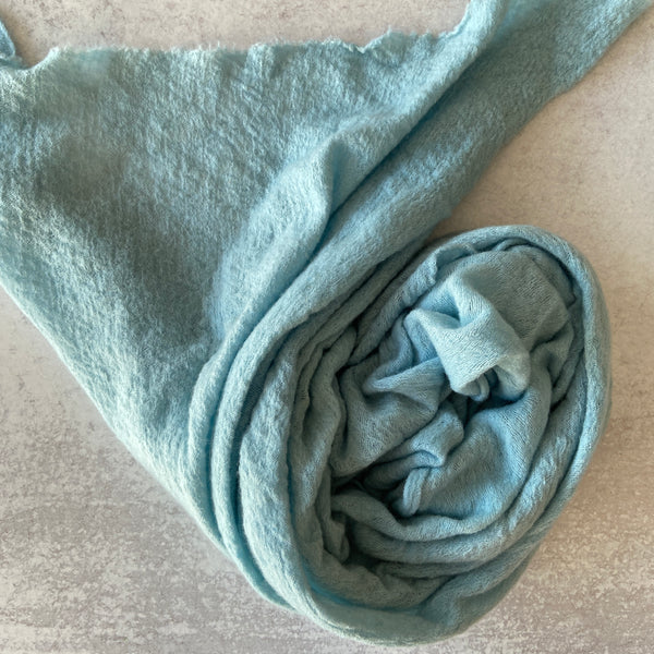 Baby Wool Cloud Scarf ~ Lake