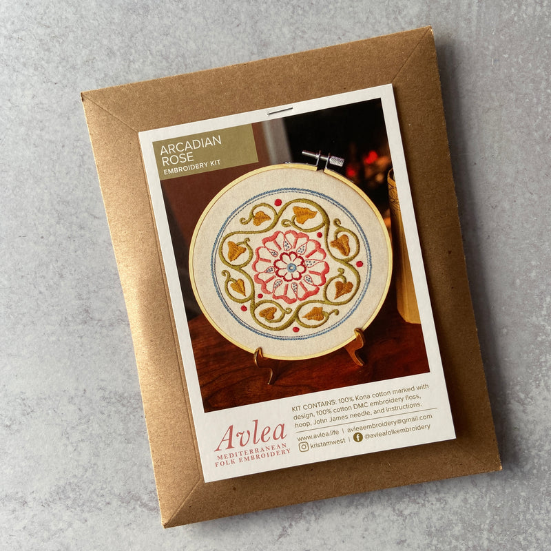 Embroidery kit - Arcadian Rose