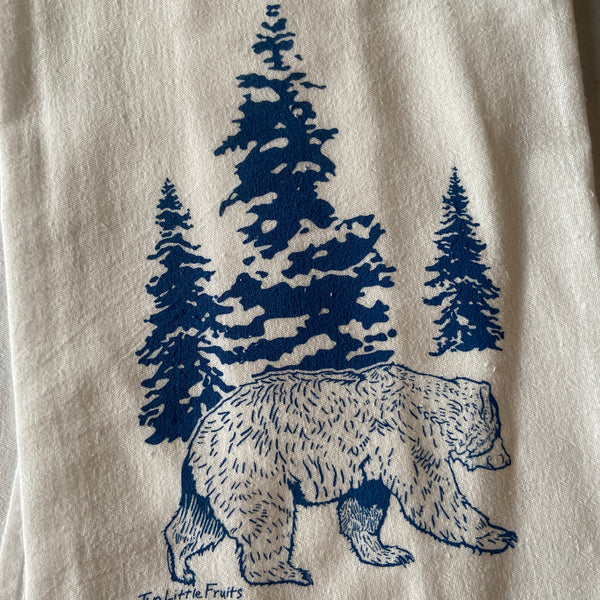 Tea Towel - Blue Bear