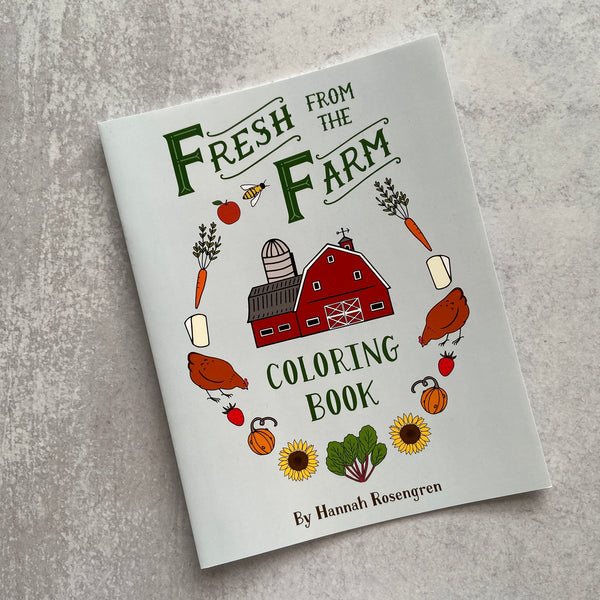 Fresh from the Farm Coloring Book