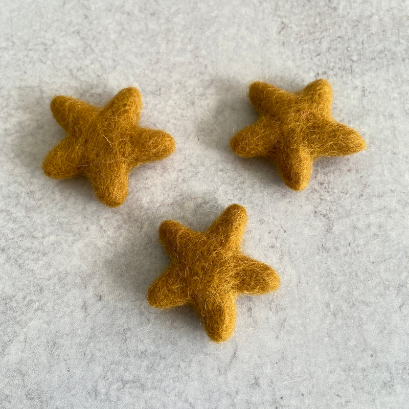 Felted Wool Mini Star