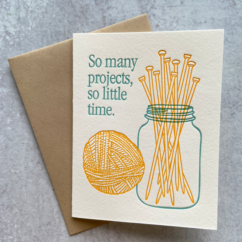 Yarn Jar of Needles Card