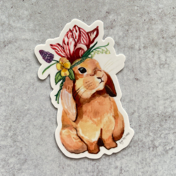 Sticker - Flower Crown Bunny