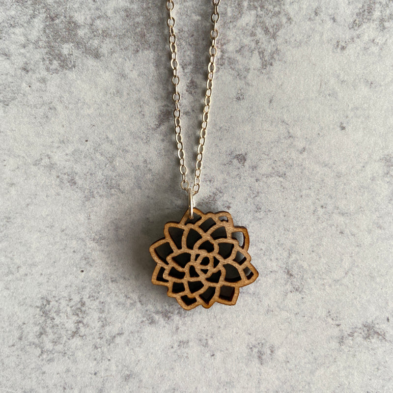 Flower Maple Necklace