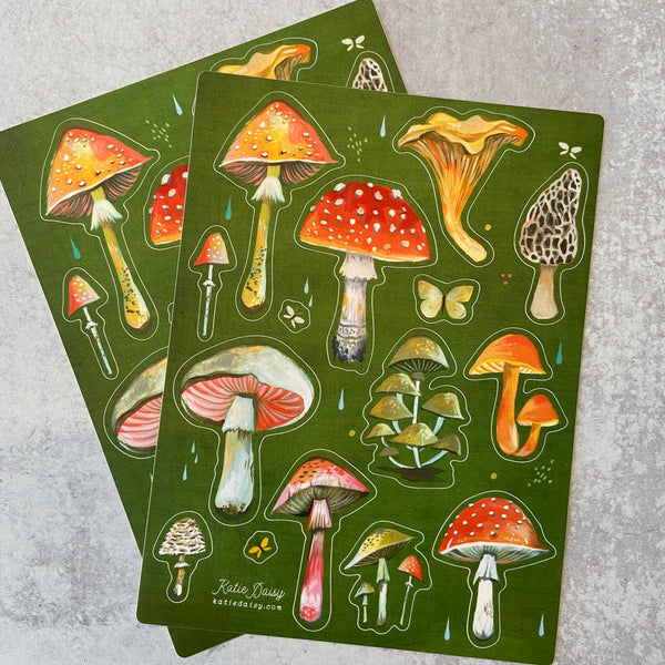 Sticker Sheet - Mushrooms