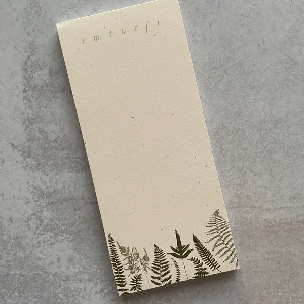 Fern Notepad To Do List
