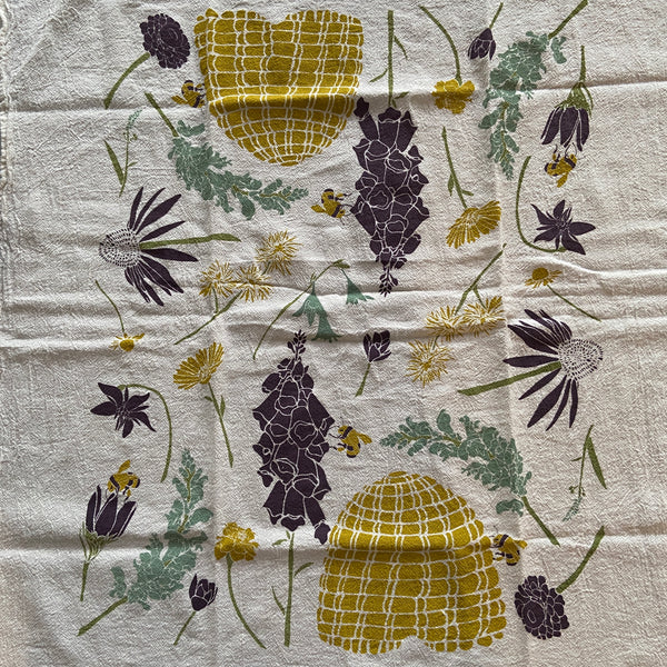 Tea Towel - Honeybee Garden