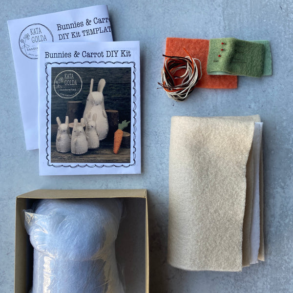 Bunnies and Carrot DIY Kit