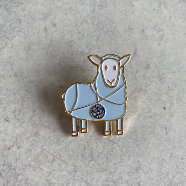 Lapel Pin - Tangled Sheep