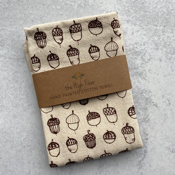 Tea Towel - Acorn