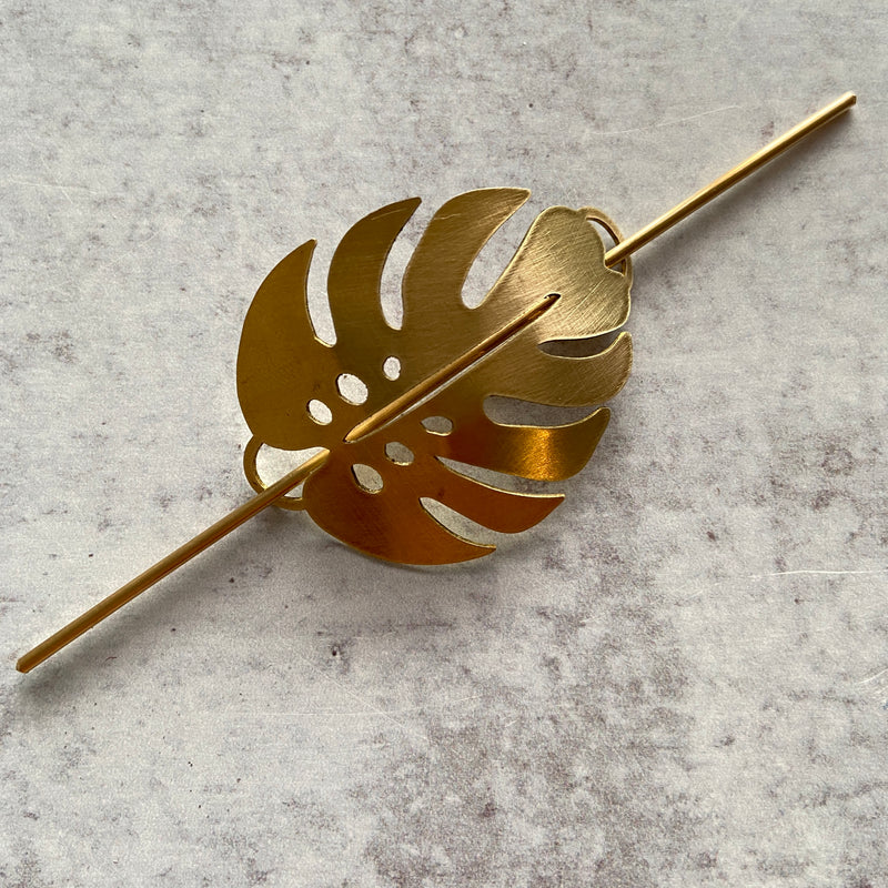Monstera Leaf Hair Pin