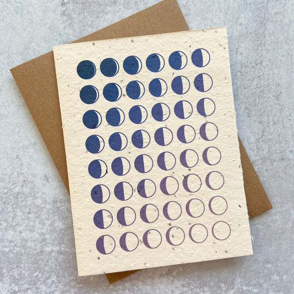 Moon Phase Birthday Card