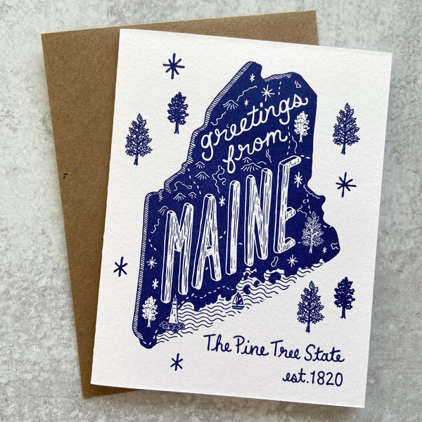 Greetings from Maine Card