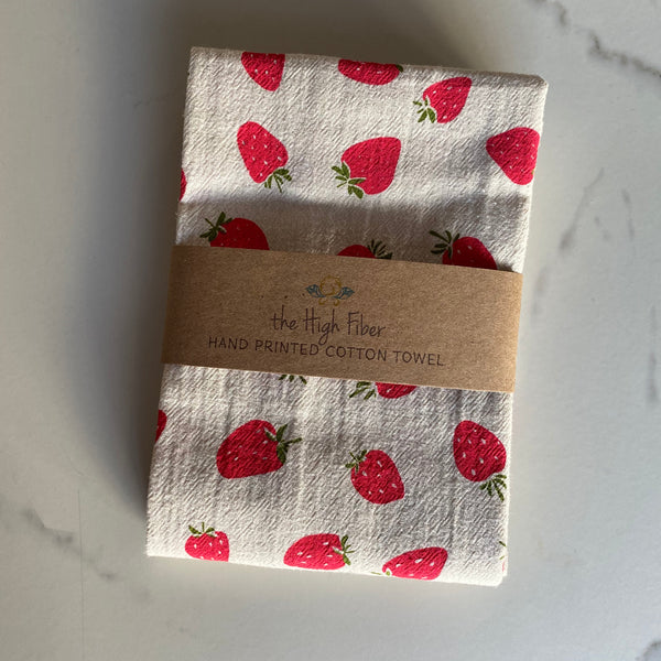 Tea Towel - Strawberry