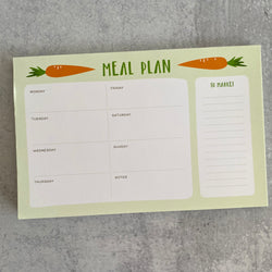 Weekly Meal Plan Notepad