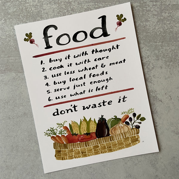 Food Advice - Print