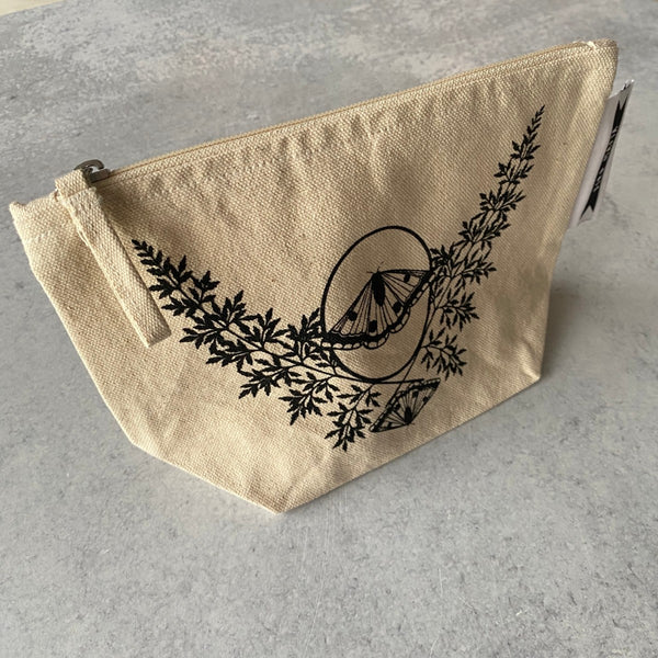 Moth Cosmetic Pouch