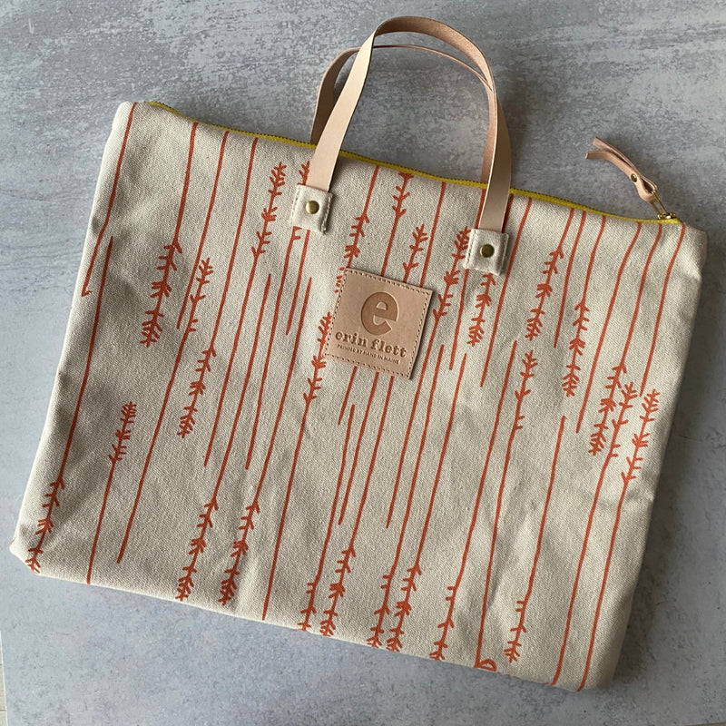 Coral Twigs Folder Bag