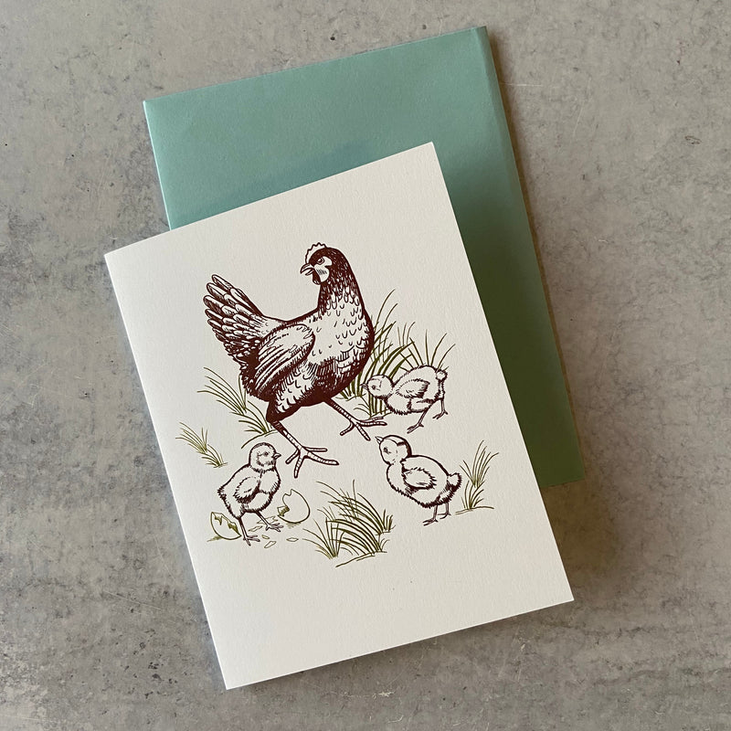 Chickens Greeting Card