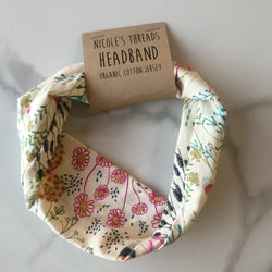 Organic Cotton Floral Headband