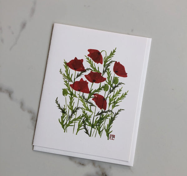 Flower Card - Poppy
